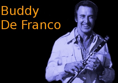 Image of Buddy De Franco with clarinet.