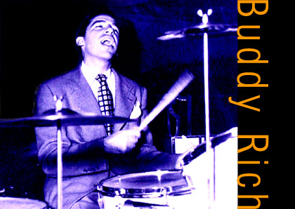 Image of Buddy Rich on drums.
