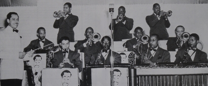 Image of The Cab Calloway Band at the Panther Room, Hotel Sherman, Chicago in 1941.