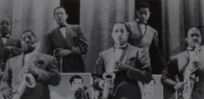 Image of The Cab Calloway Band at the Paramount Theatre, NYC in 1940.