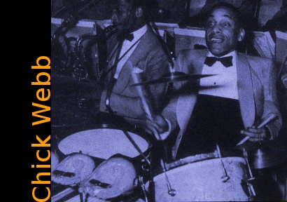 Image of Chick Webb on drums.