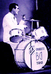 Image of Gene Krupa playing drums.
