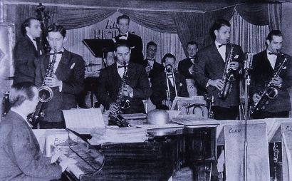 Image of Red Nichols and His Orchestra at The Famous Door, New York City, May-June 1940.